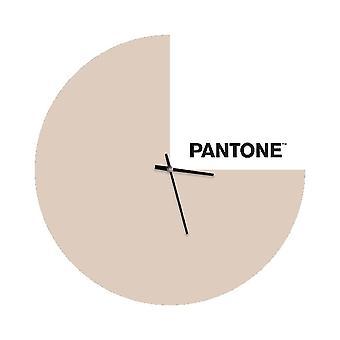 PANTONE Klocka Slice Färg Sand, Vit, Svart, Metall L40xP0.15xA40 cm