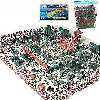 575pcs الحرب العالمية جنود الجيش تعيين شخصيات ساحة المعركة Playset