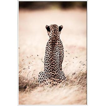 JUNIQE Print -  Still Leopard - Safari-Tiere Poster in Braun