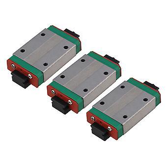 3Pcs Extension MGN12H Sliding Bearing Block for Guide Rail Linear