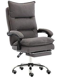 Chair Soft Office Pu Leather Chairs With Footrest Computer Cotton Chair