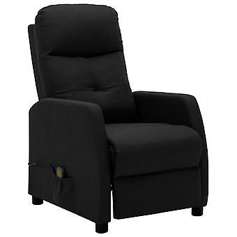 vidaXL fotel do masażu Czarna tkanina