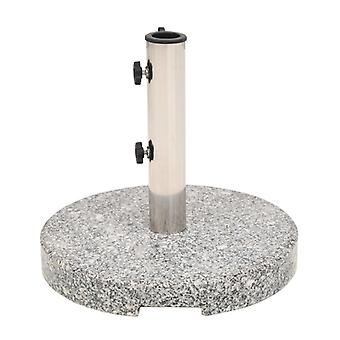 vidaXL Sonnenschirmständer Granit Rund 22 kg