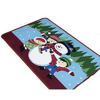 45 * 70Cm jasnoniebieski bałwan christmas series parter stóp drzwi dywan dywan dt1666