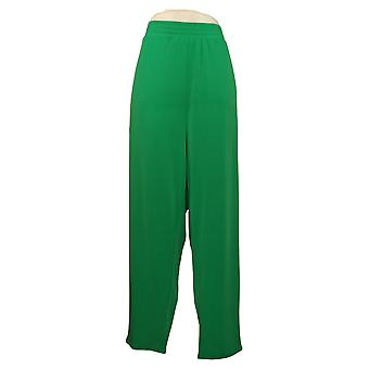 IMAN Global Chic Women's Plus Pants Ankle With Pockets Green 7417791DB