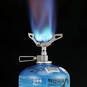 Outdoor Gas Stove, Camping Burner, Mini Titanium Survival Furnace Pocket Picnic