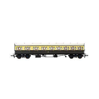Hornby GWR Collett 57' Bow slutade 6626 E131 Nine Compartment Composite (vänster hand) Era 3 Modelltåg