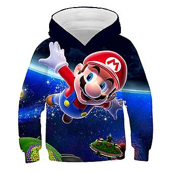 3d Print, Super Mario Cartoon Hooded Sweatshirt For Set-16