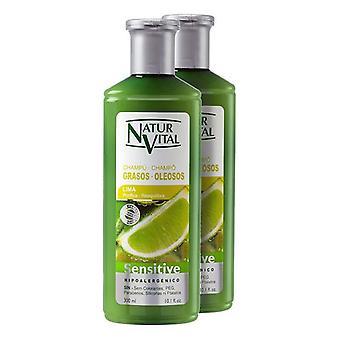 Purifying Shampoo Sensitive Naturvital (2 x 300 ml)