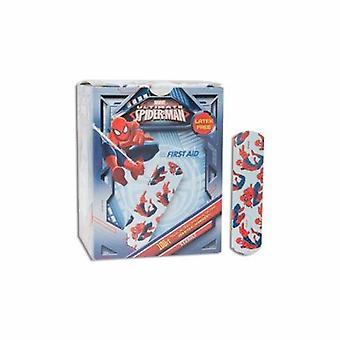 Dukal Adhesive Strip American White Cross Stat Strip 3/4 X 3 Inch Plastic Rectangle Kid Design (Spider-M, Kid Design (Spider-Man) 100 Count