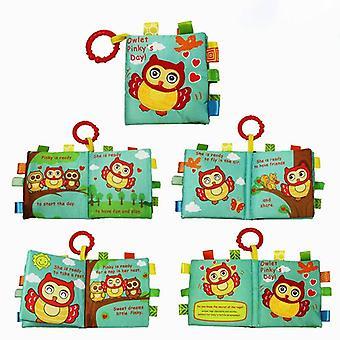 Stoff Bücher Baby Montessori Educational Soft Rattle Spielzeug