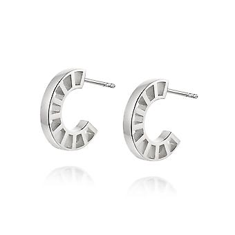 Daisy Goldie Huggie Hoop Sterling Silver Earrings HUG12_SLV