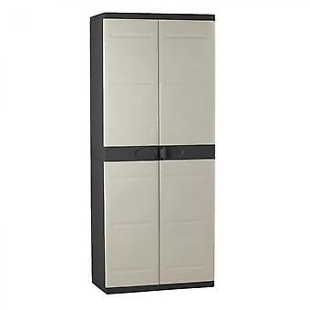 Titanium Plastiken High Cabinet 2 Doors