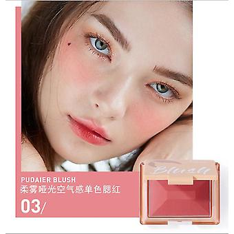 Blush Easy To Color Waterproof Lasting Smooth Enhance Complexion Shimmer Rouge(#3)