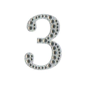 5cm Klar Selvklebende Diamante Tall - 3 | Diamante Edelstener Utsmykninger