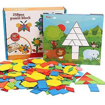 Educatief Speelgoed Kid 2 3 4 6 10 jaar oude tiener kinderen Spel Jongen Meisje DIY Wiskunde Geometrie Rekenen