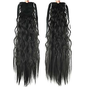 (2) Vastag haj wrap körül Wave Lófarok Hair Piece Clip A Pony Tail Extensions Paróka