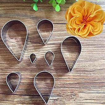 7Pcs/set high quality stainless steel rose petal cookie cutter mold pastry mould sugarcraft cake decorating tool cake tool