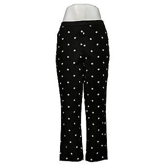 Isaac Mizrahi Live! Pantaloni donna Stretch Daisy Crop Nero A376624