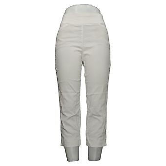 Susan Graver pantalones de mujer estirar tire en blanco A306513