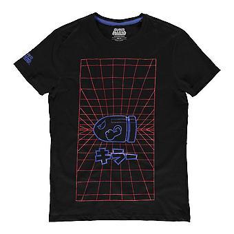 Super Mario Bros. Neon Japanese Bullet Bill T-Shirt, männlich, extra groß, Schwarz