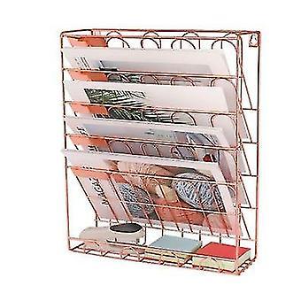 Rack de armazenamento de livros de livros de mesa simples