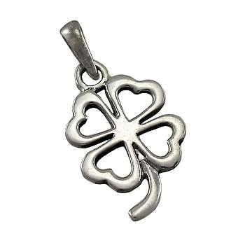 Sterling Silver Cutout 4 Leaf Clover Good Luck Charm / Pendant