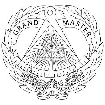 Boussole et carré g porte-documents maçonniques en cuir véritable