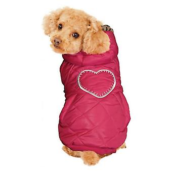 Fashion Pet Girly Puffer Dog Coat Pink - Medium