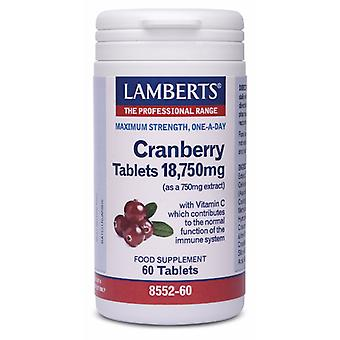 Lamberts CRANBERRY TABLETS 18,750mg, 60 tabs