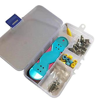 3Pcs / Set Kunststoff Mini Skate Finger Skateboarding Griffbrett Neuheit Gag Spielzeug für Jungen Kinder