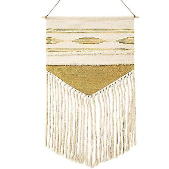 Home decor decals boho hanging tapestry vintage fabric macrame decoration hotel hanging home wall decor yellow