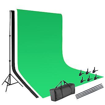 Vamery 1.6*3m Non-woven Fabrics 2*3m Background Stand Photography Video Studio Lighting Kit Black