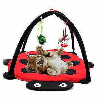 Jucarii pet, Beetle Cat Cort, Jucarii pet, Cat Hammock Jucarii, Cat Alpinism Cadru Cat Jucarii Cat (rosu 61 * 61 * 34)