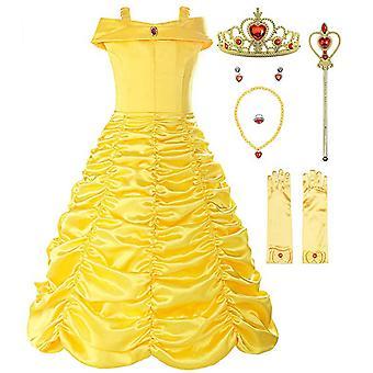 Little Girls Layered Princess Costume Dress Up. Girls Short Sleeve Dress