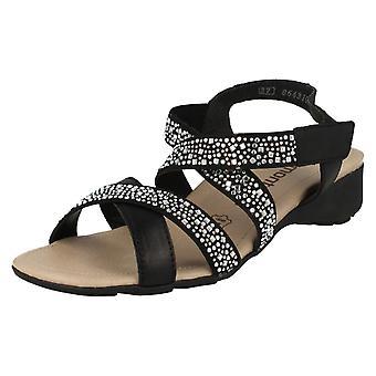 Las señoras Diamante retan correa tacón sandalias R5276