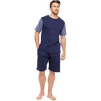 Tom Franks Mens Jersey katoen korte mouw Top pyjama 's