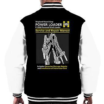 Vreemdelingen Power Loader Service en reparatie handleiding mannen Varsity Jacket