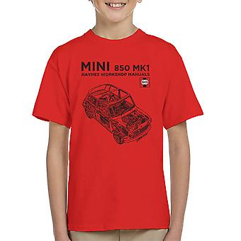 Haynes Workshop Manual Mini MkI Black Kid's T-Shirt