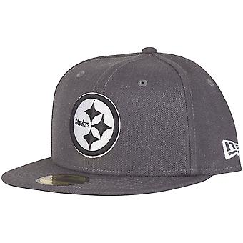 New era 59Fifty Cap - GRAPHITE Pittsburgh Steelers grey