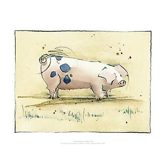 Penelope Pig Poster Print by Kate Philp (16 x 12)
