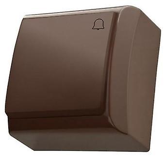 Overflaten vegg montert knapp Push utgivelse døren Bell bytte Plate hvit/brun