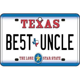 Texas - beste oom License Plate auto luchtverfrisser