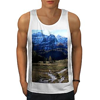 Vallée de montagne Nature hommes WhiteTank Top | Wellcoda