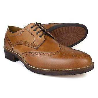 Red Tape Swinley Men's Tan Leather Brogue Shoes