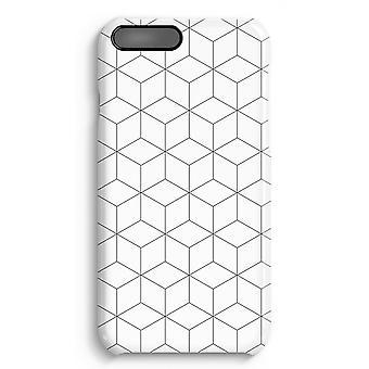 iPhone 7 Plus pełna obudowa głowiczki (błyszcząca) - kostki czarno-białe