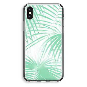iPhone X Transparant Case (Soft) - verlässt Palm