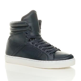 Ajvani mens lace opp casual flat Hei høy topp ankelen støvler sko trenere joggesko