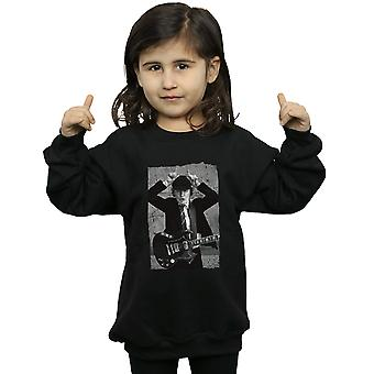 AC/DC Girls Angus Young Distressed Photo Sweatshirt