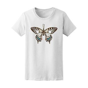 Vintage mariposa abierta alas Tee mujer-imagen de Shutterstock